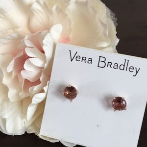 NWT Rose Gold and Pink Crystal Earrings